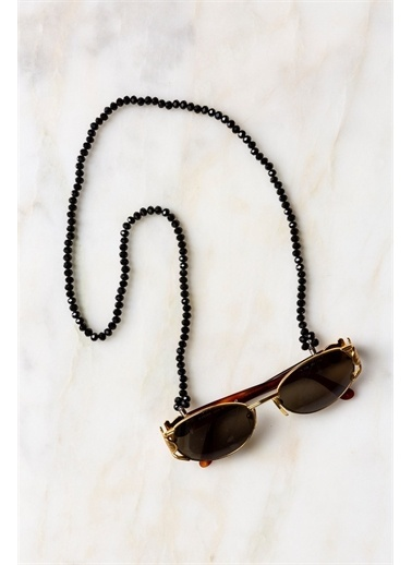 Arma House Siyah Kristal Bayan Gözlük Zinciri Renkli